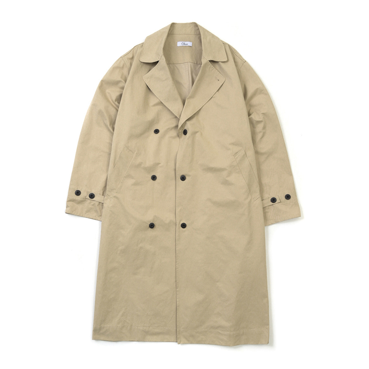 Over Fit Trench Coat, Beige