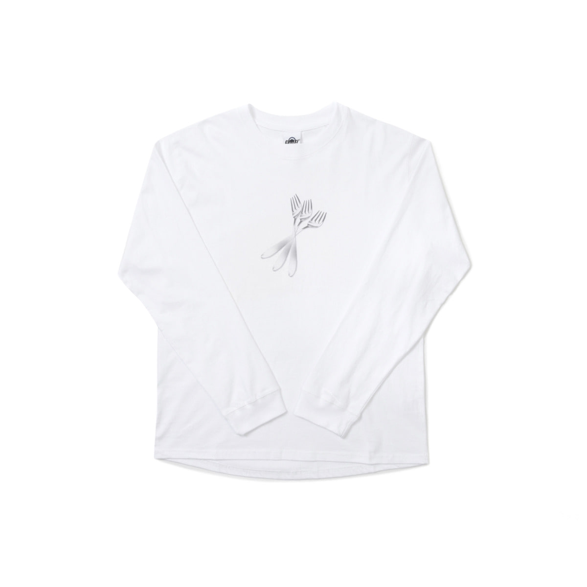 Fork Frint Long Sleeve, White