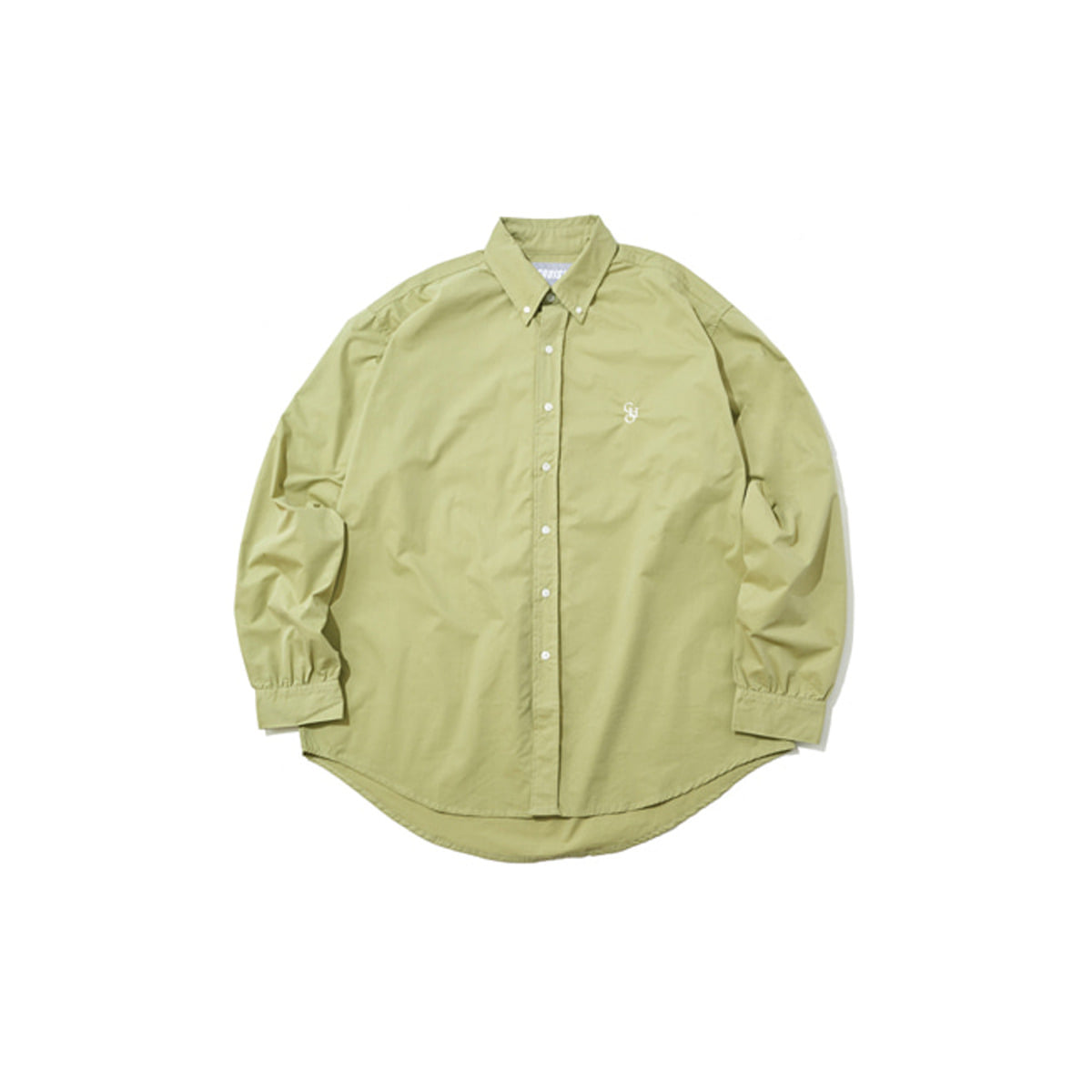 Cotton Loose Fit Shirt, Olive