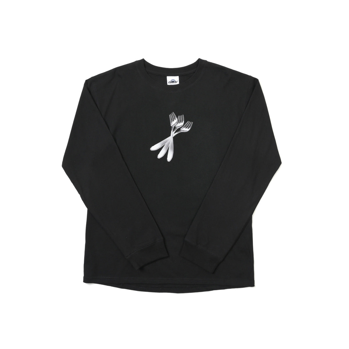 Fork Frint Long Sleeve, Black
