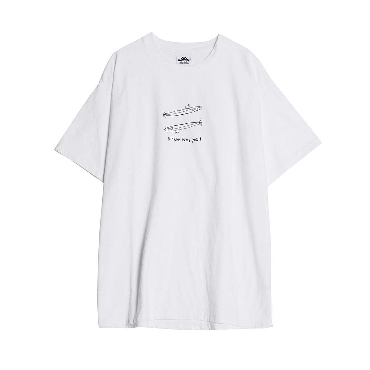 Submarine Sketch Short Sleeve, White