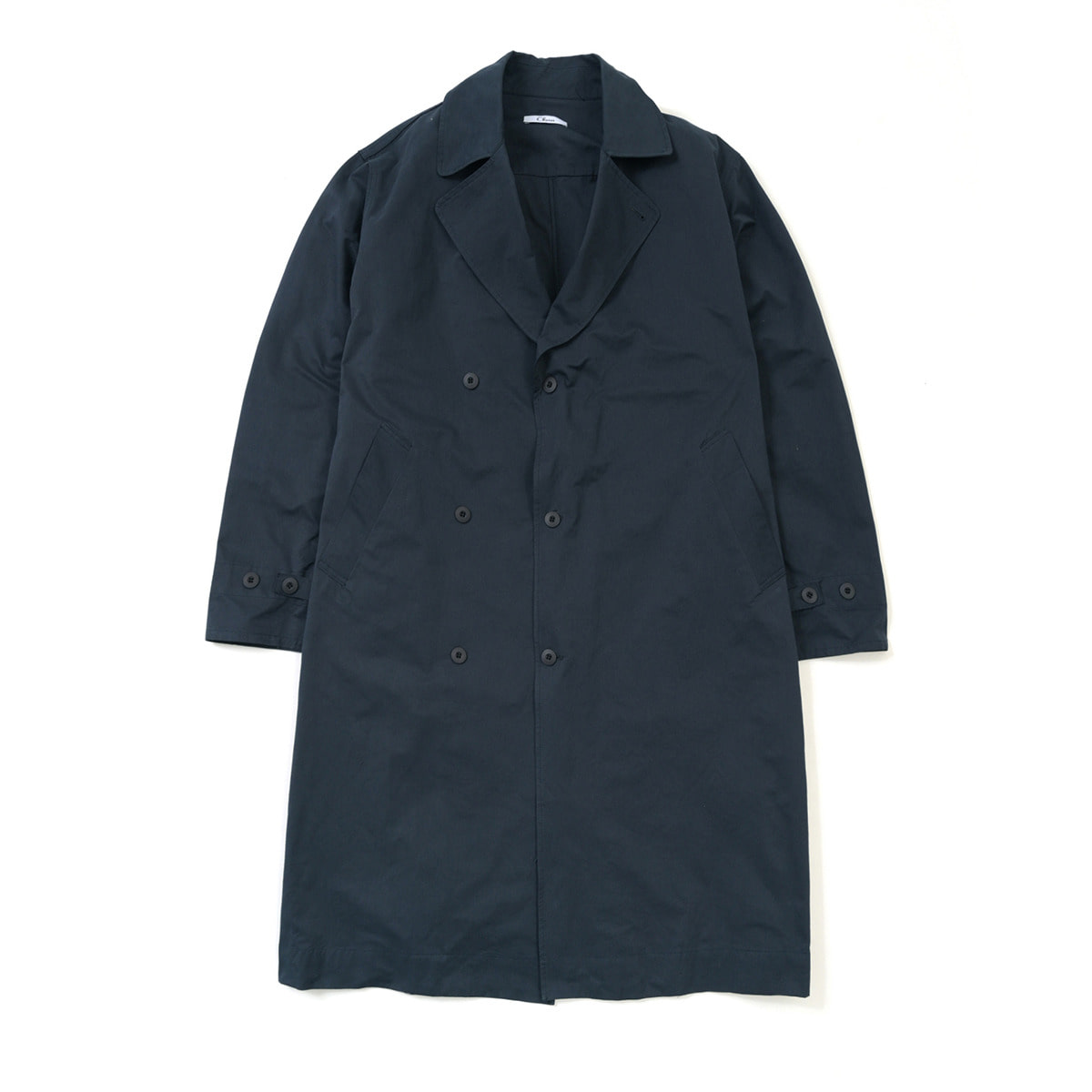 Over Fit Trench Coat, Navy